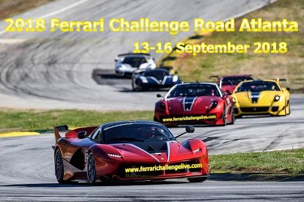 2018 Ferrari Challenge Road Atlanta Live Stream