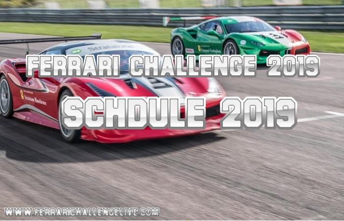 Ferrari Challenge 2019 Schedule
