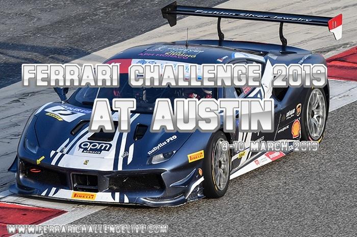 Ferrari Challenge Austin Live Stream 2019