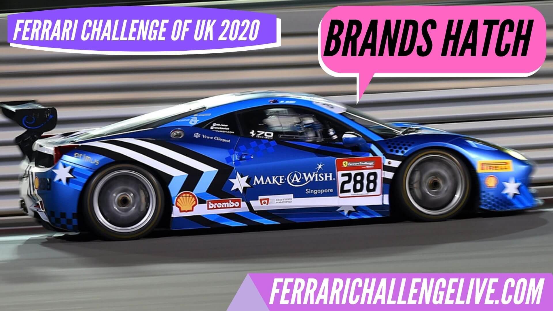 Brands Hatch Live Stream 2020 | Ferrari Challenge UK