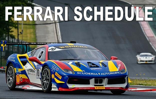 Ferrari Schedule